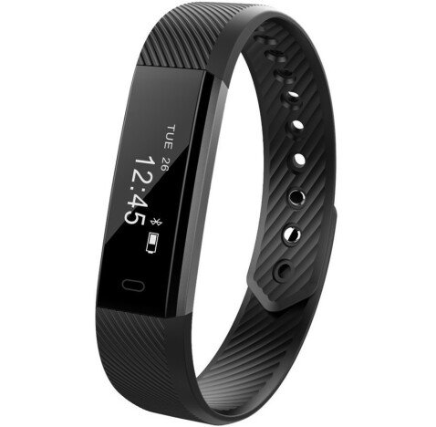 Bratara Fitness iUni ID115 Plus, Display OLED, Bluetooth, Pedometru, Monitorizare puls, Notificari,